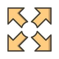 Volledig scherm Vector pictogram