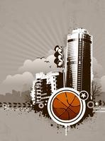 Grunge stedelijke basketbal achtergrond