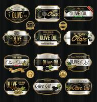 Olijfolie retro uitstekende gouden inzameling als achtergrond vector