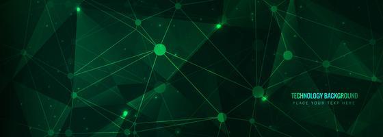 Abstracte technologie banner sjabloon vector