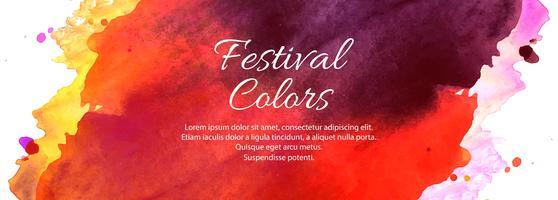 Gelukkig Holi Indian voorjaar festival kleurrijke banner ontwerp