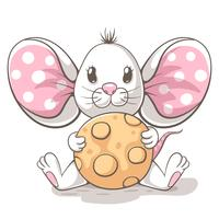 Leuke, grappige, kleine muis stripfiguren