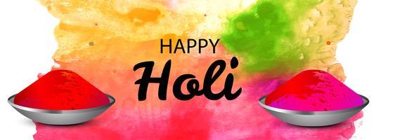 Kleurrijk gelukkig de bannerontwerp van de holiviering