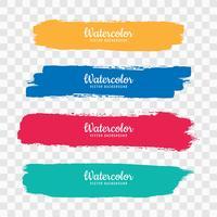 Hand tekenen kleurrijke aquarel strock ingesteld vector