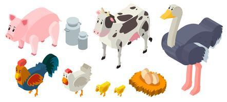 3D-ontwerp voor landbouwhuisdieren