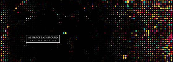 Zwarte achtergrond van vlekken kleurrijke halftone vector