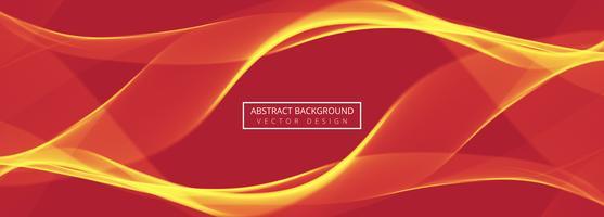 Abstracte wave koptekst instellen ontwerpsjabloon