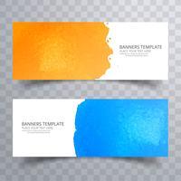 Abstract kleurrijk aquarel header ingesteld ontwerp