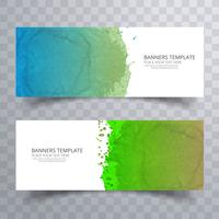 Mooie zachte kleurrijke aquarel header set vector