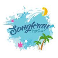 Songkran achtergrond