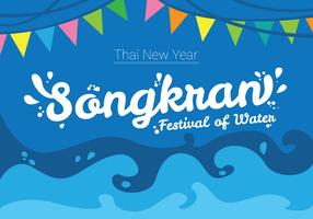 Songkran Festival Posterontwerp vector