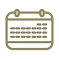 Kalender Perfect pictogram Vector of Pigtogram illustratie in gevulde stijl