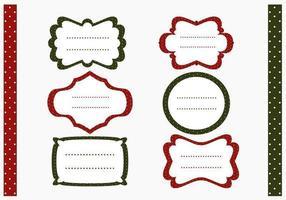 Polka Dotted Christmas Label en Pattern Vector Pack