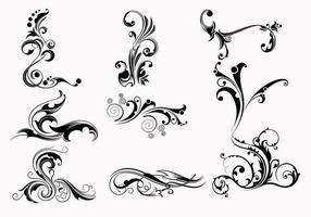 Negen Swirly Scroll Vectors