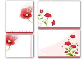 Papavers Kaarten en Vector Wallpaper Pack