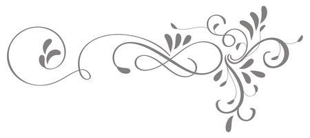 kalligrafie bloeien kunst van vintage decoratieve slierten voor ontwerp. Vector illustratie EPS10
