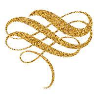 gouden kerstkalligrafie bloeien kunst. uitstekende decoratieve whorls voor ontwerp op witte achtergrond. Vector illustratie EPS10
