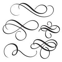 set vintage bloeien decoratieve kunst kalligrafie kransen voor tekst. Vector illustratie EPS10
