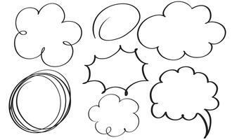 set van bloeien kalligrafie vintage doodle frame. Illustratie vector hand getrokken EPS-10