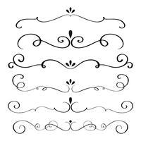 de kunstkalligrafie bloeit van vintage decoratieve whorls voor ontwerp. vectorillustratie EPS vector