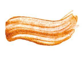 Gouden folie vectorillustratie. Aquarel textuur verf vlek Abstracte glans penseelstreek voor u Amazing Design Project. witte achtergrond