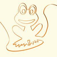 3D de kikker dierlijke illustratie van de lijnkunst, vectorillustratie