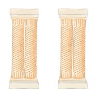 Griekse doodle Dorische Ionische Korinthische kolommen. Vector illustratie Klassieke architectuur