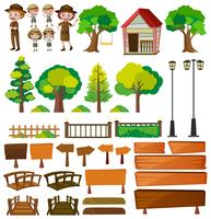 Parkwachters en boomproducten