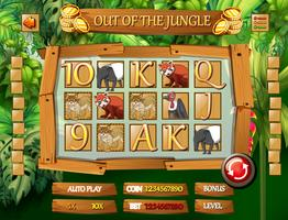 Jungle dierensjabloon vector