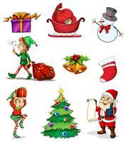 Kerst tekenen vector