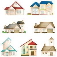 verschillende huizen vector