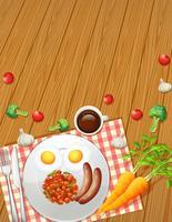 Gezond ontbijt van bovenaanzicht
