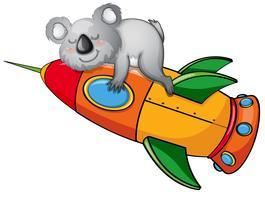 beer op een raket