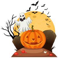Een griezelige Halloween-sjabloon vector