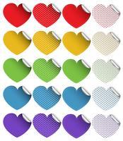 Stickerontwerp in hartvormen