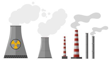Verschillende soorten schoorstenen vector
