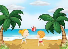 Kinderen spelen bal