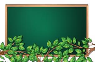 Boomtak op schoolbordbanner vector