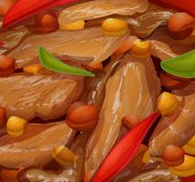 Een close-up van gezond voedsel vector
