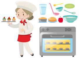 Baker en bakkerijmateriaal