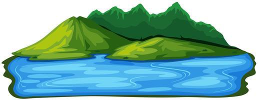 Een prachtig natuurlijk eilandlandschap vector