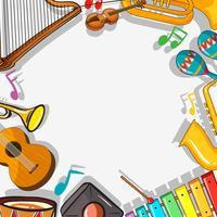 Grensmalplaatje met muzikale instrumenten vector