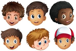International Boy Facial op witte achtergrond vector