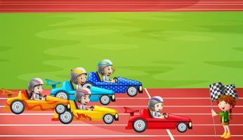 Formule 1 racen in het stadion