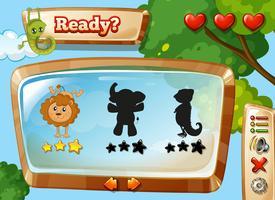 Wild dierensjabloon voor games