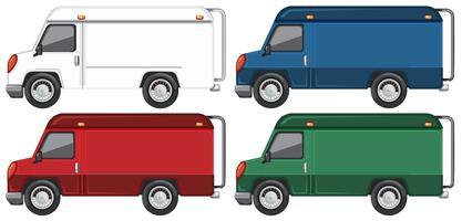 Set van vrachtwagen met verschillende kleuren