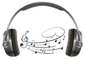 Een hoofdtelefoon op witte achtergrond vector