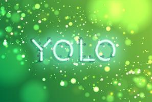 Neon realistisch woord voor reclame, vectorillustratie