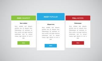Schoon en modern websiteelement, vectorillustratie vector