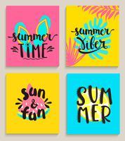 Heldere zomerkaarten. vector